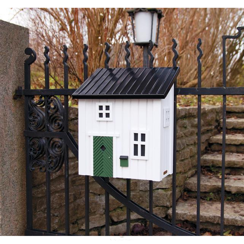 Kleines schwedenhaus briefkasten postkasten aus holz in for Kleines wohnhaus aus holz