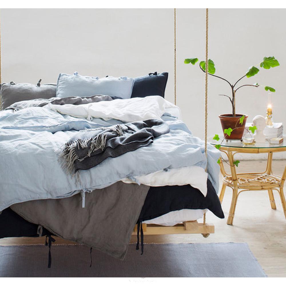 leinen bettw sche white 149 90. Black Bedroom Furniture Sets. Home Design Ideas