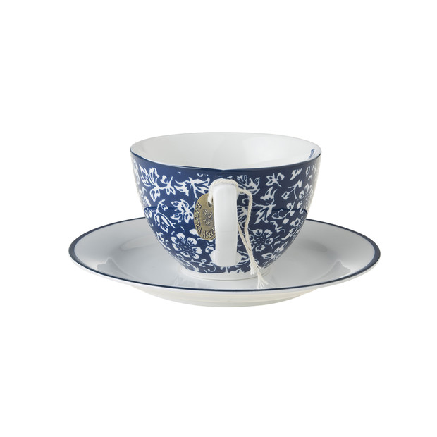 Laura Ashley Cappuccino Tasse & Untertasse sweet allysum
