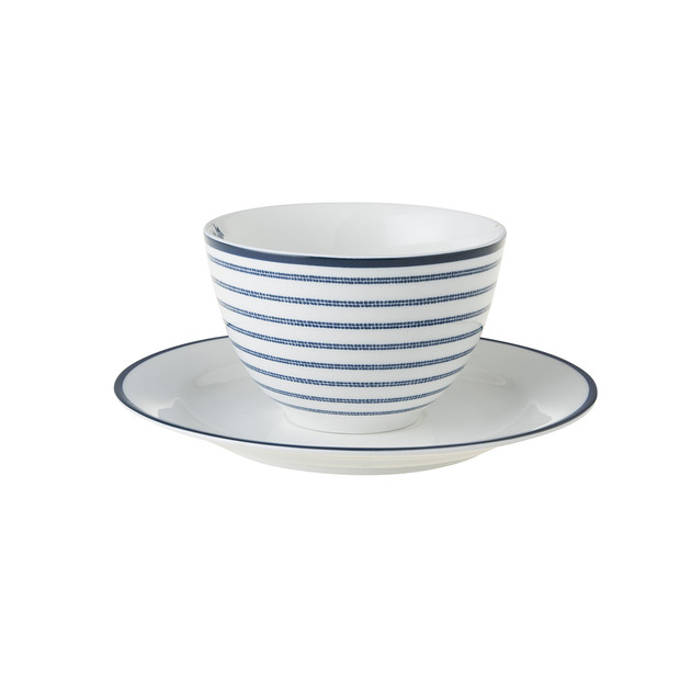 Laura Ashley Cappuccino Tasse & Untertasse candy stripe