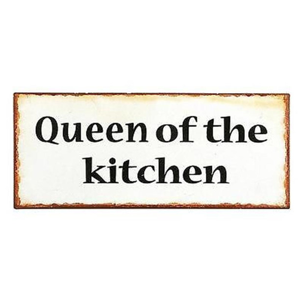 Lafinesse Schild Queen of kitchen Metall  Ib laursen nostagie Küche Koch
