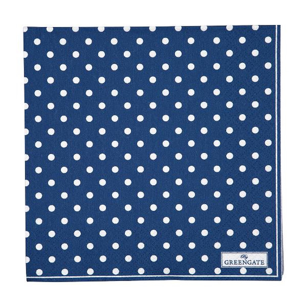 Greengate spot blue Napkin large