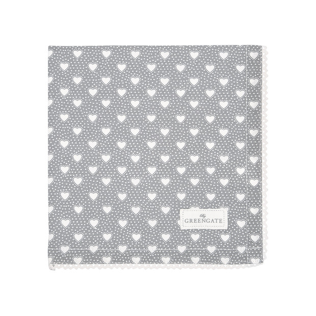 Greengate Penny grey Napkin with lace
