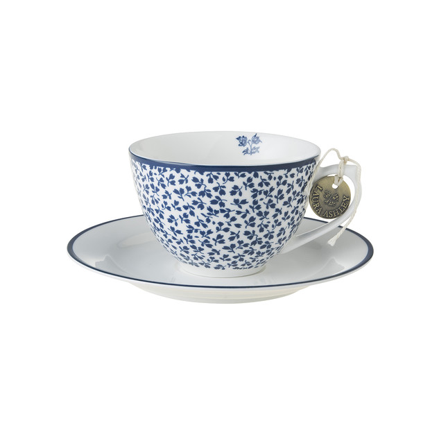 Laura Ashley Cappuccino Tasse & Untertasse floris