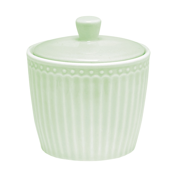 Greengate Alice green sugar pot